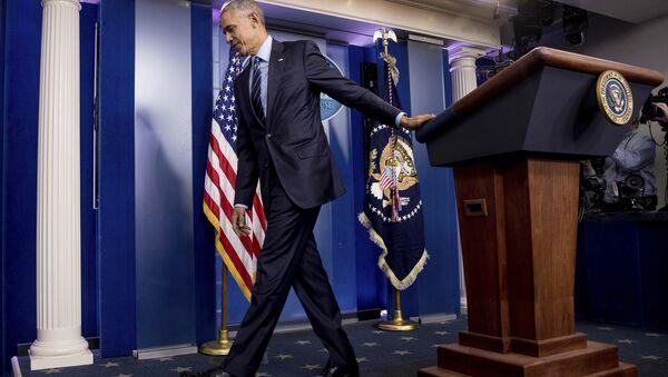 President Barack Obama in the White House Press Briefing Room - Sputnik Mundo