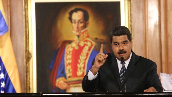 Venezuela's President Maduro speaks during a meeting with businessmen in Caracas - Sputnik Mundo