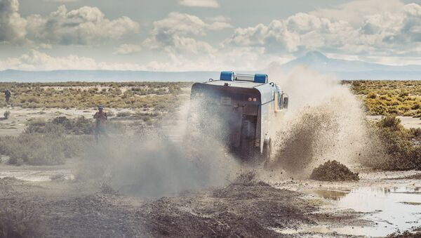 Dmitry Sotnikov (RUS) of KAMAZ - Master races during stage 8 of Rally Dakar 2017 from Uyuni, Bolivia to Salta, Argentina on January 10, 2017. - Sputnik Mundo