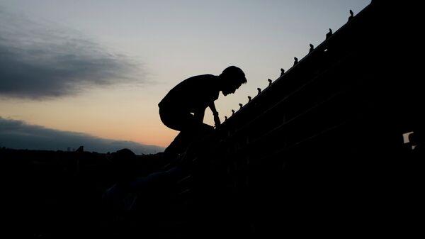 Migrante mexicano en la frontera entre México y EEUU - Sputnik Mundo