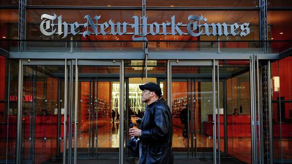 Edificio del  'The New York Times' in New York - Sputnik Mundo