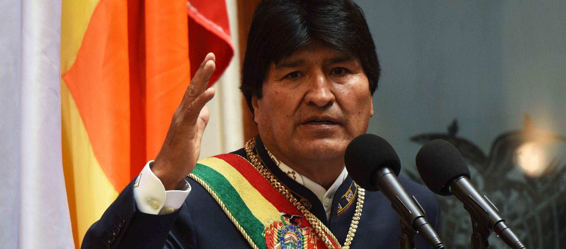 Evo Morales, presidente de Bolivia - Sputnik Mundo, 1920, 02.04.2018