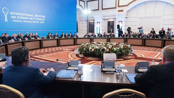 Las negociaciones en Astaná - Sputnik Mundo