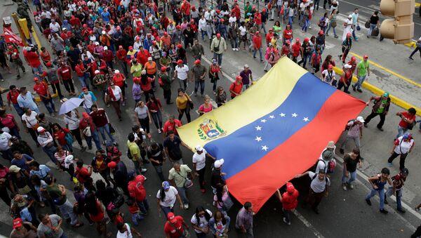 Una marcha progubernamental en Caracas, Venezuela (archivo) - Sputnik Mundo
