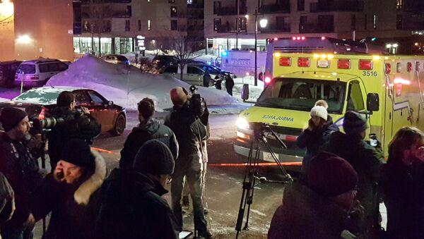El lugar del atentado en Quebec - Sputnik Mundo