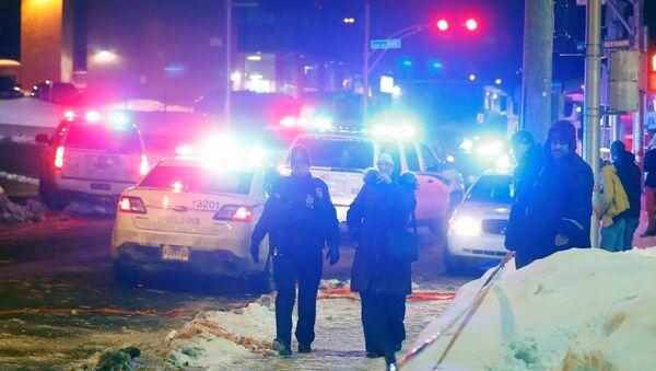 Lugar de tiroteo en Quebec, Canadá - Sputnik Mundo
