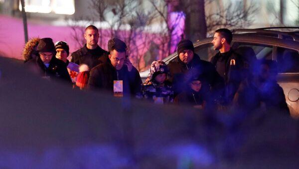 Lugar del tiroteo en Quebec - Sputnik Mundo