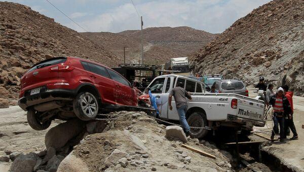 Consecuencias de un deslave en Perú - Sputnik Mundo