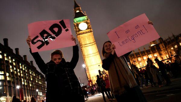 La protesta contra Trump en Londres - Sputnik Mundo