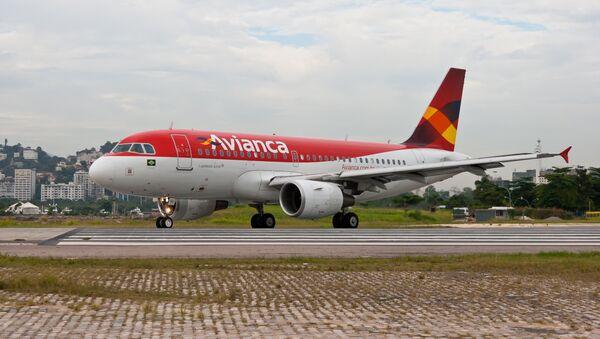 Avión de la empresa colombiana Avianca (archivo) - Sputnik Mundo