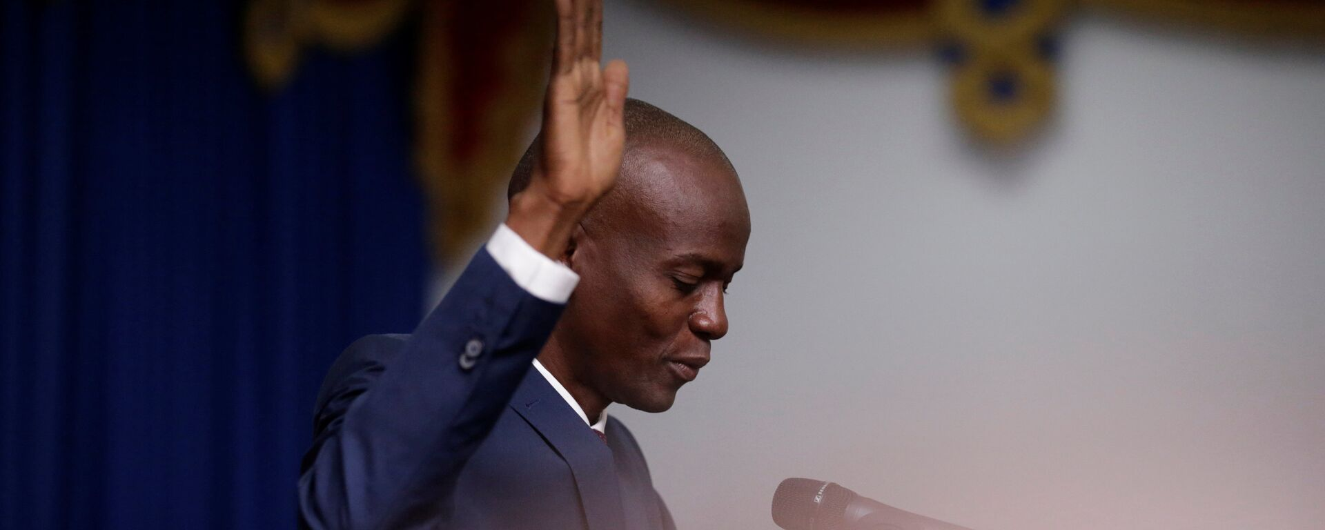 Haitian President Jovenel Moise takes the oath of office during his inauguration in Port-au-Prince, Haiti February 7, 2017 - Sputnik Mundo, 1920, 20.07.2021