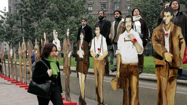 Figuras de los desaparecidos en la Operación Colombo durante la dictadura de Pinochet en Chile, 2005 - Sputnik Mundo