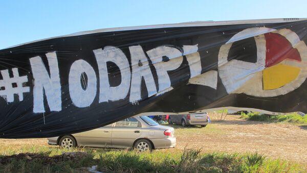 Protesta contra la construcción de oleoducto Dakota Access (archivo) - Sputnik Mundo