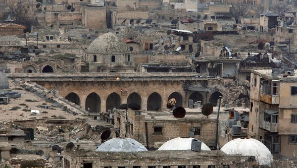 La Mezquita de los Omeyas, Alepo, Siria - Sputnik Mundo