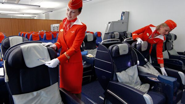 Las azafatas de Aeroflot (imagen referencial) - Sputnik Mundo