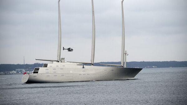 El yate privado Sailing Yacht A del multimillonario ruso Andréi Melnichenko - Sputnik Mundo