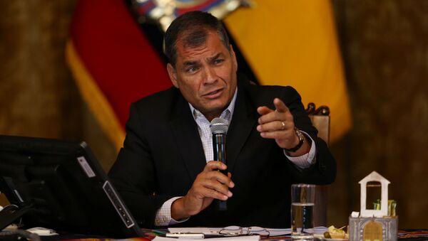 Rafael Correa, expresidente de Ecuador - Sputnik Mundo