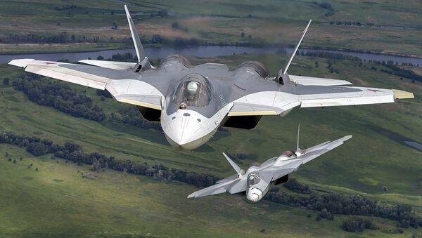 Caza de quinta generación Su-57 - Sputnik Mundo