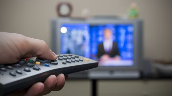 Un televisor (imagen referencial) - Sputnik Mundo