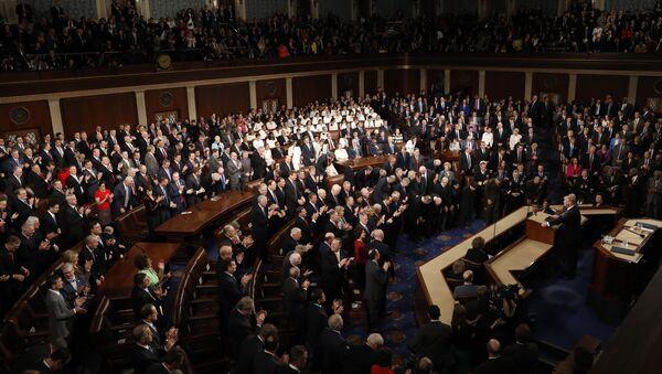 Donald Trump en el Congreso de EEUU (archivo) - Sputnik Mundo
