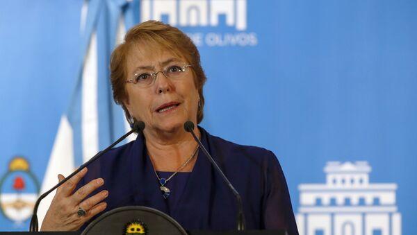 Michelle Bachelet, presidenta de Chile (archivo) - Sputnik Mundo