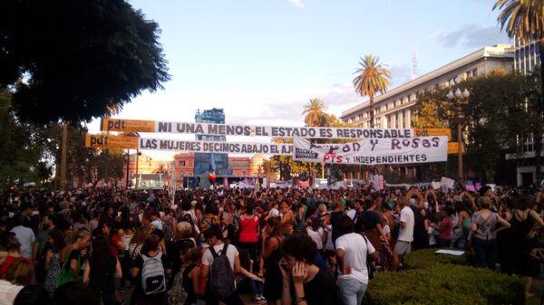 Marcha de mujeres en Buenos Aires - Sputnik Mundo