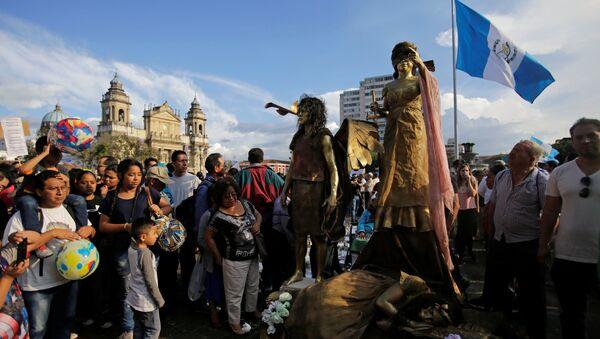 Manifestaciones en la Ciudad de Guatemala - Sputnik Mundo