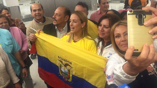 Lilian Tintori en Ecuador - Sputnik Mundo