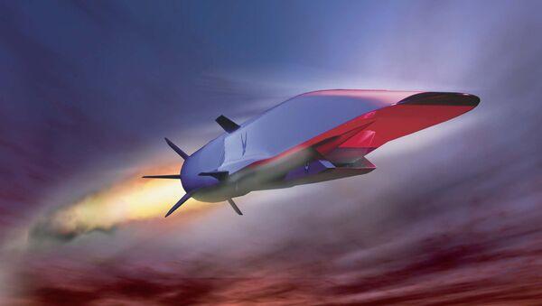 La imagen de Boeing X-51A Wave Rider, el vehiculo hipersónico experimental estadounidense probado en 2010 - Sputnik Mundo