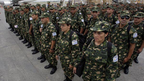Militares uruguayos en Haiti (archivo) - Sputnik Mundo