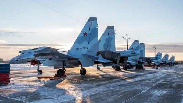 Cazas Su-35 rusos - Sputnik Mundo