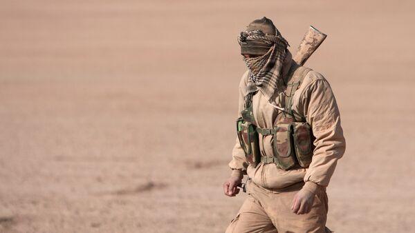 Un combatiente de las Fuerzas Democráticas de Siria (FDS) - Sputnik Mundo
