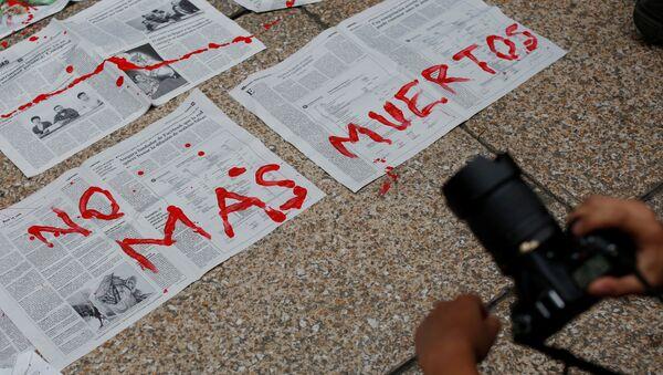 Protesta contra los asesinatos en México (archivo) - Sputnik Mundo