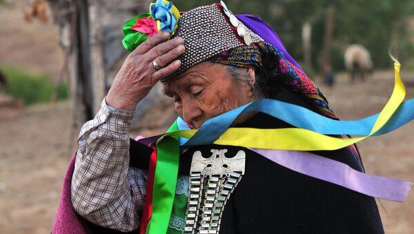 Una mujer indígena en la región chilena de Araucanía (archivo) - Sputnik Mundo