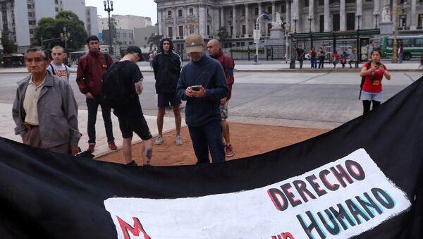 Paro migrante en Buenos Aires - Sputnik Mundo