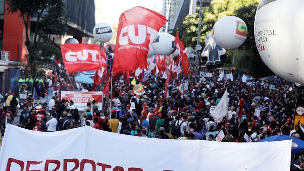 Manifestaciones contra reforma de la seguridad social en Brasil - Sputnik Mundo