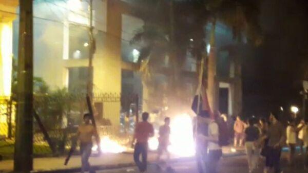El Congreso de Paraguay, en llamas - Sputnik Mundo