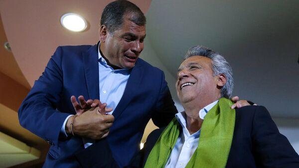 Rafael Correa y Lenín Moreno - Sputnik Mundo