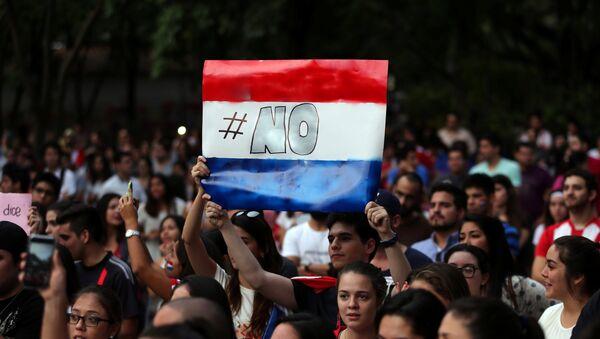 La protestas en Paraguay - Sputnik Mundo