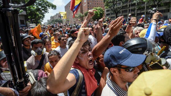 Protestas de la oposición en Venezuela (archivo) - Sputnik Mundo