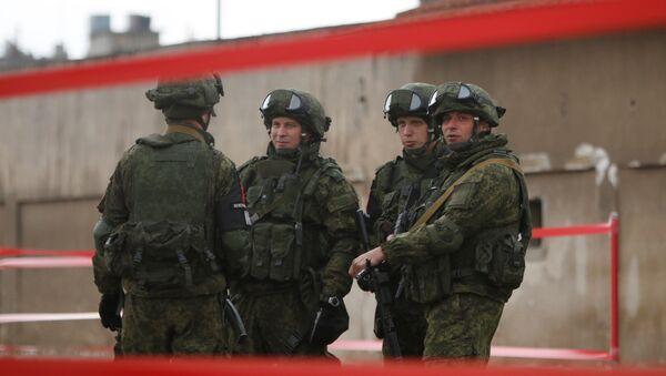 Militares rusos en Siria - Sputnik Mundo