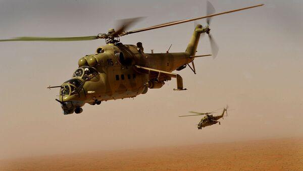 Afghan Air Corps Mi-35 helicopters - Sputnik Mundo