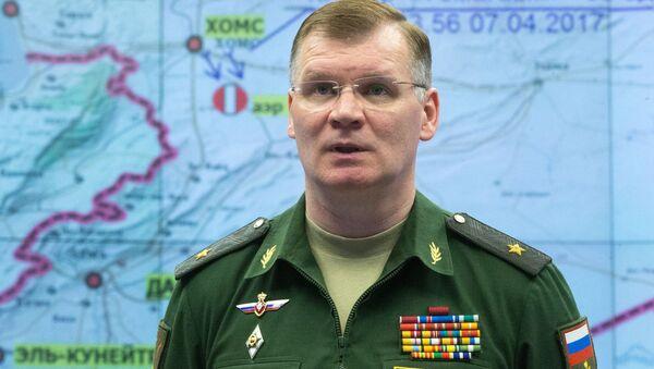 Официальный представитель министерства обороны РФ генерал-майор Игорь Конашенков - Sputnik Mundo