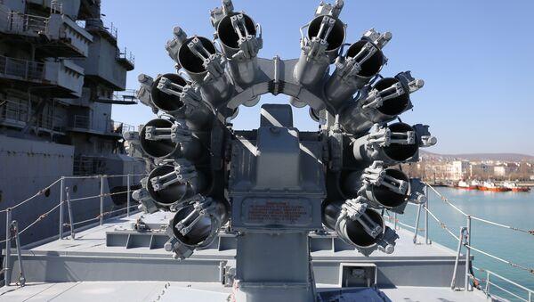 Los misiles Kalibr en la fragata Almirante Grigorovich - Sputnik Mundo