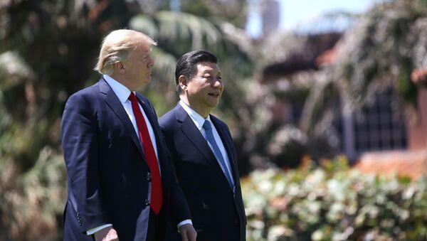 Presidente de EEUU, Donald Trump, y presidente de China, Xi Jinping (archivo) - Sputnik Mundo