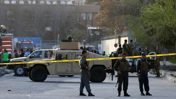La policía de Afganistán en el lugar del atentado (Archivo) - Sputnik Mundo