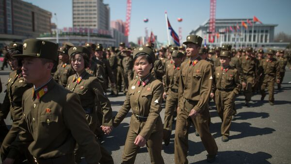 Militares norcoreanos en Pyongyang - Sputnik Mundo