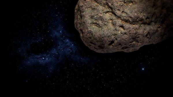 Ilustración gráfica de un asteroide - Sputnik Mundo