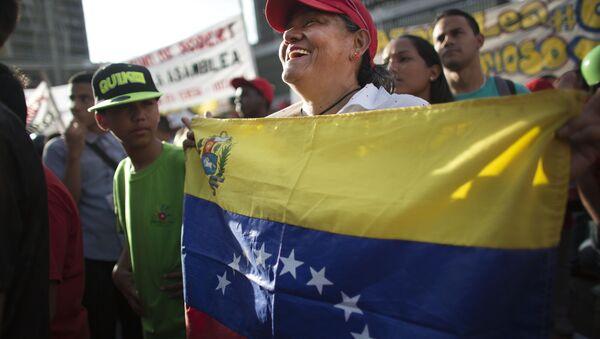Partidario del partido venezolano PSUV (archivo) - Sputnik Mundo