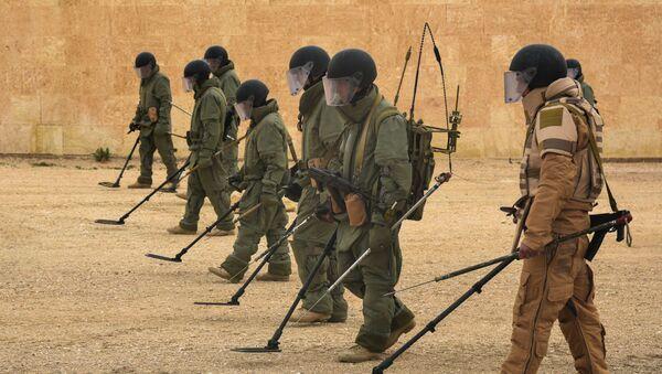 Zapadores rusos en Siria (archivo) - Sputnik Mundo